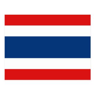 Postal de la bandera de Tailandia