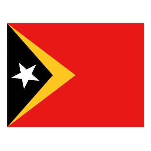 Postal de la bandera de Timor Oriental