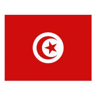 Postal de la bandera de Túnez