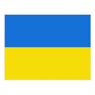 Postal de la bandera de Ucrania