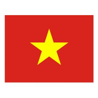 Postal de la bandera de Vietnam