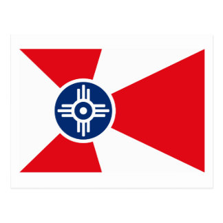 Postal de la bandera de Wichita