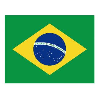 Postal de la bandera del Brasil