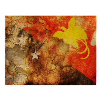 Postal de la bandera del Grunge de Papúa Nueva