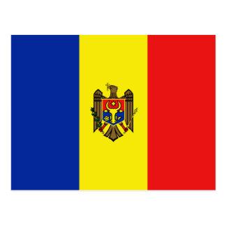 Postal de la bandera del Moldavia