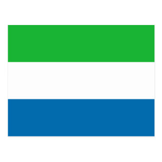 Postal de la bandera del Sierra Leone