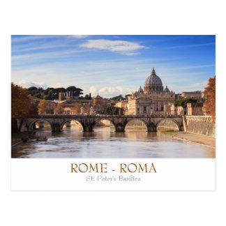 Postal de la basílica de Roma - de San Pedro con