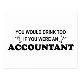 Postal De la bebida contable también -