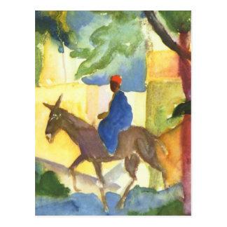 Postal de la bella arte de August Macke