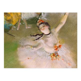 Postal de la bella arte de la bailarina de Edgar