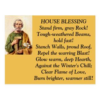 Postal de la bendición de la casa de San José
