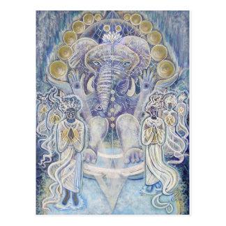 Postal de la bendición de la riqueza de Ganesha