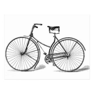 Postal de la bicicleta del vintage