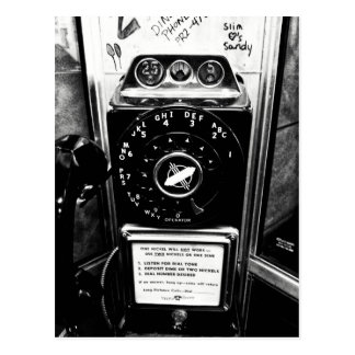 Postal de la cabina de teléfono del vintage