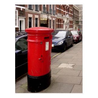 postal de la caja del poste