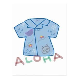 postal de la camisa de hawaiana