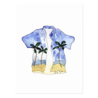 Postal de la camisa hawaiana 1