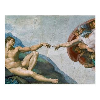 Postal de la capilla de Sistine de Miguel Ángel