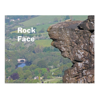 Postal de la cara de la roca