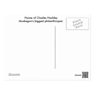 Postal de la casa de Charles Hackley