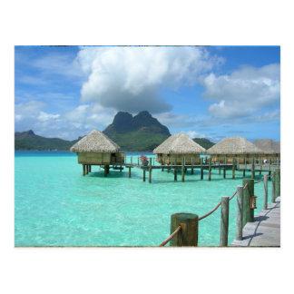 Postal de la casa de planta baja de Bora Bora