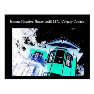 Postal de la casa encantada (Calgary, Canadá)