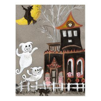 Postal de la casa encantada de los fantasmas del