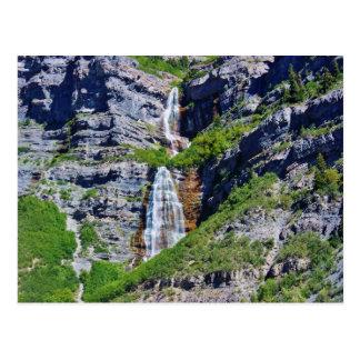 Postal de la cascada #1a- de Utah - por la sabana