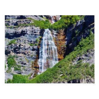 Postal de la cascada #1b- de Utah - por la sabana
