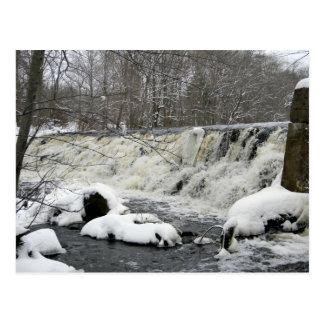 Postal de la cascada del río de Taunton