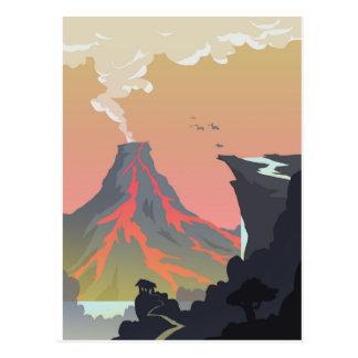 Postal de la cascada del volcán