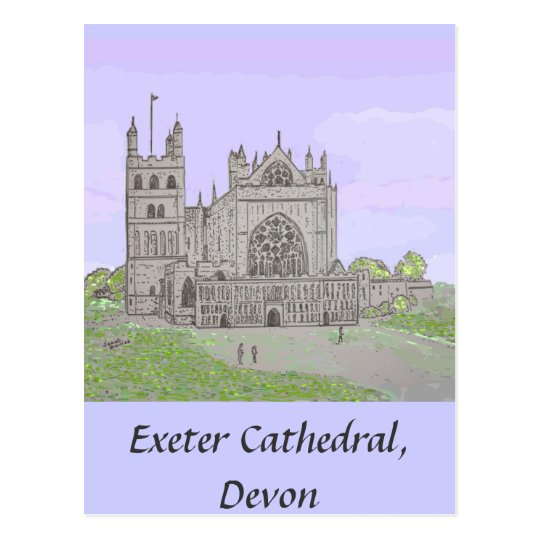 Postal de la catedral de Exeter