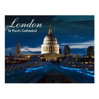 Postal de la catedral de Londres - de San Pablo
