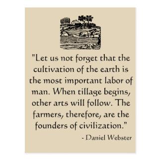 Postal de la cita de Daniel Webster