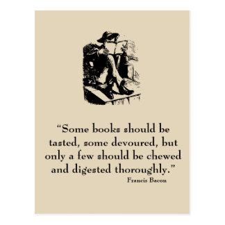 Postal de la cita de Francis Bacon