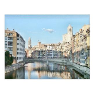 Postal de la ciudad de  Girona.