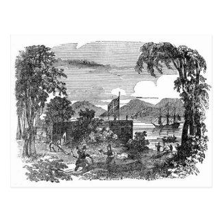 Postal de la colonia de Jamestown del vintage