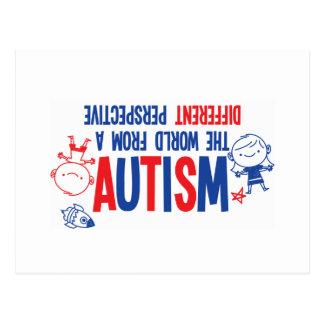 Postal de la conciencia del autismo