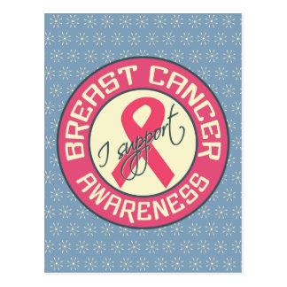 Postal de la conciencia del cáncer de pecho,