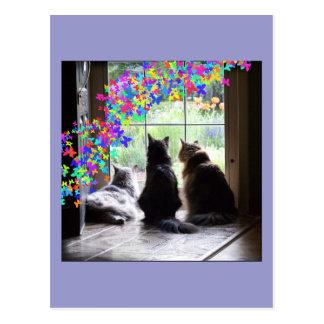 Postal de la condolencia del gato del puente del a