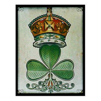 Postal de la corona y del trébol