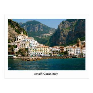 Postal de la costa de Amalfi en Italia, la UNESCO
