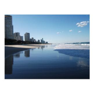 Postal de la costa de la sol de Queensland