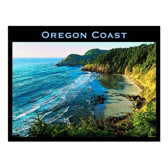 Postal de la costa de Oregon