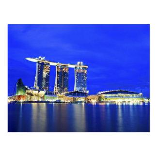 Postal de la costa de Singapur