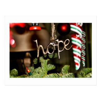"""Postal de la """"esperanza"""" del navidad"""