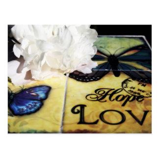 Postal de la esperanza y del amor