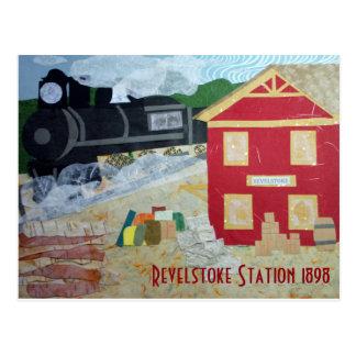 Postal de la estación de Revelstoke