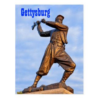 Postal de la estatua IV de Gettysburg