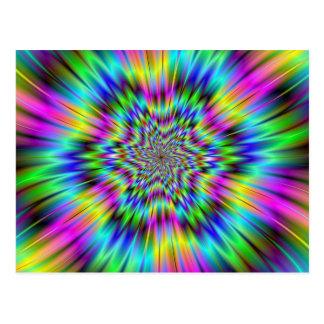 Postal de la estrella del arco iris